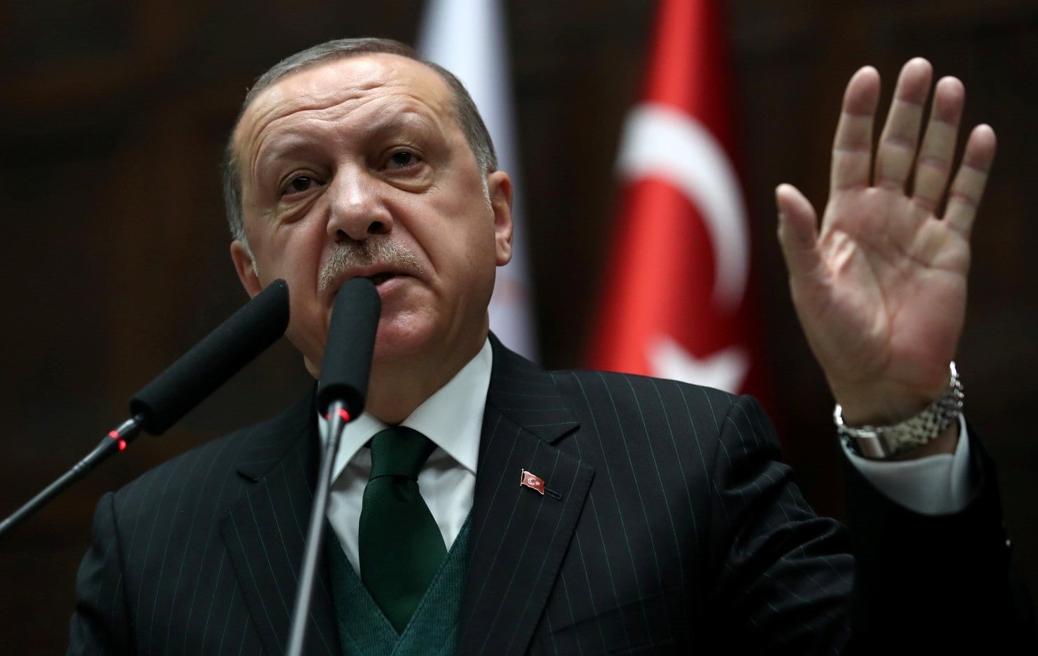 الرئيس التركي رجب طيب أردوغان في أنقرة في السادس من آذار/مارس.